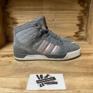 Adidas neo Raleigh mid top gray sneakers s…